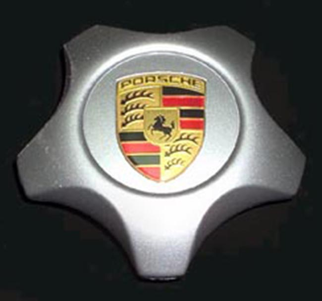 Porsche Cayenne Cap (Satin) with Color Crest
