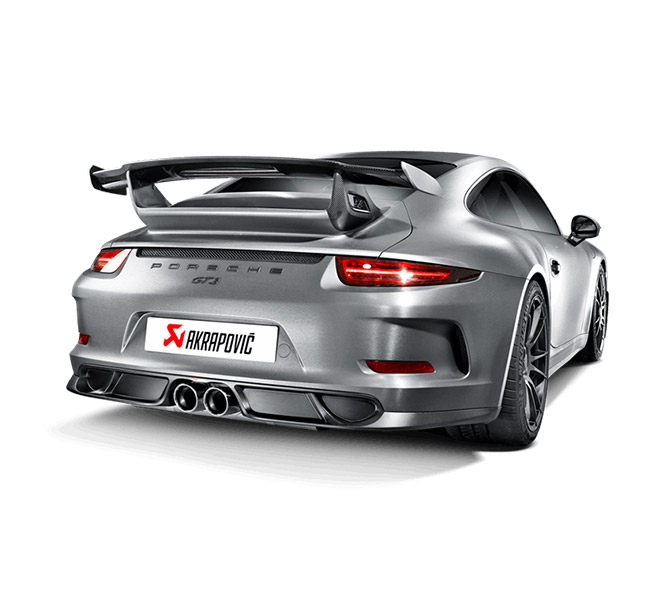 Akrapovic Rear Carbon Fiber Diffuser Porsche 911 GT3/RS (991)