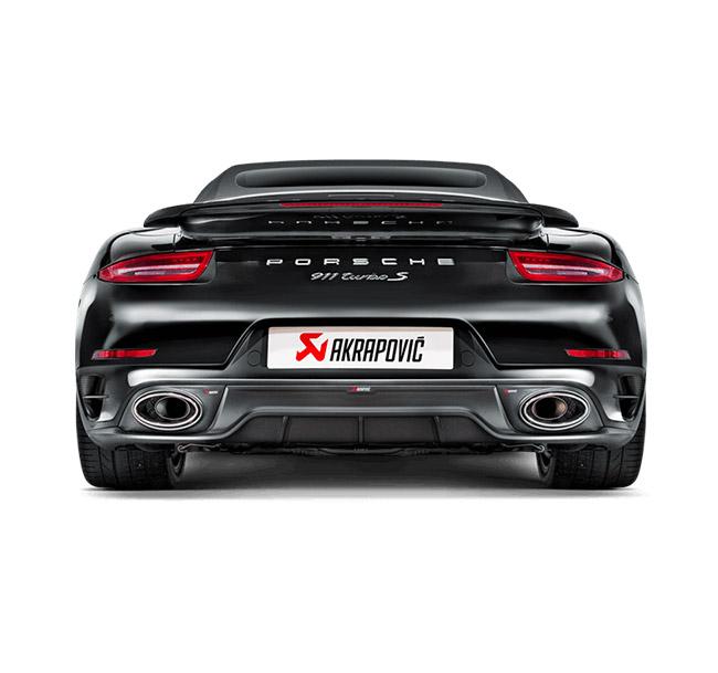 Akrapovic Rear Carbon Fiber Diffuser Porsche 911 Turbo/Turbo S (991)
