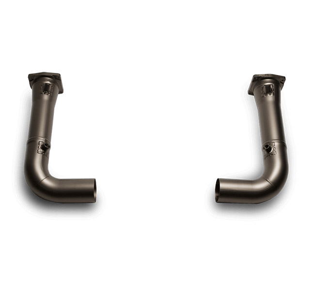 Akrapovic Link Pipe Set (Titanium) Porsche 911 Turbo (997)