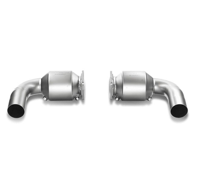 Akrapovic Link Pipe Set (100 cpsi cats, Tit.) Porsche 911 Turbo/Turbo S (997 FL)
