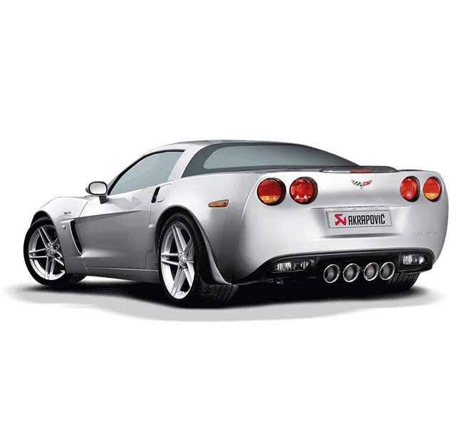 Akrapovic Slip-On (SS) Chevrolet Corvette Z06/ZR1 (C6)