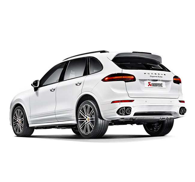 Akrapovic Slip-On (Titanium) Porsche Cayenne Turbo (958 FL)