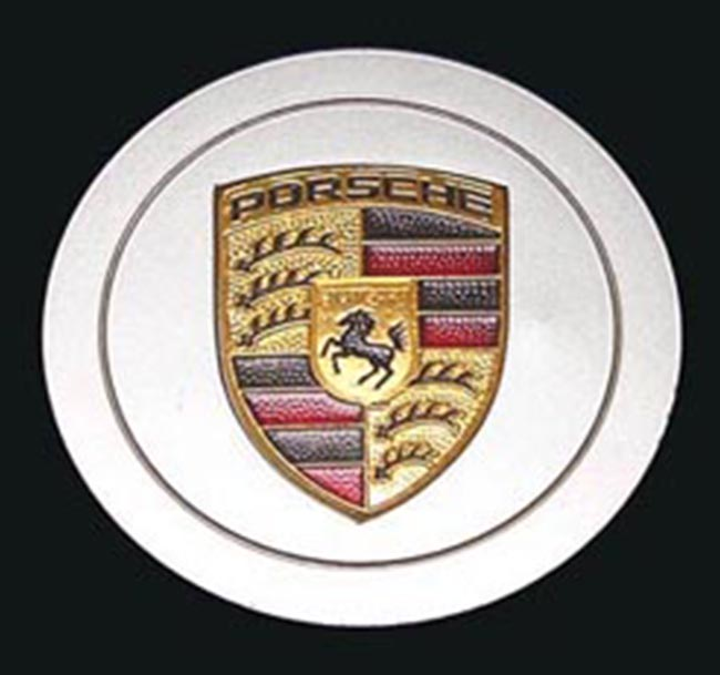 Porsche Late Cap with Metal Crest