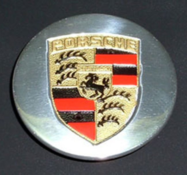 Porsche Polished Late Cap with Hand Painted Crest