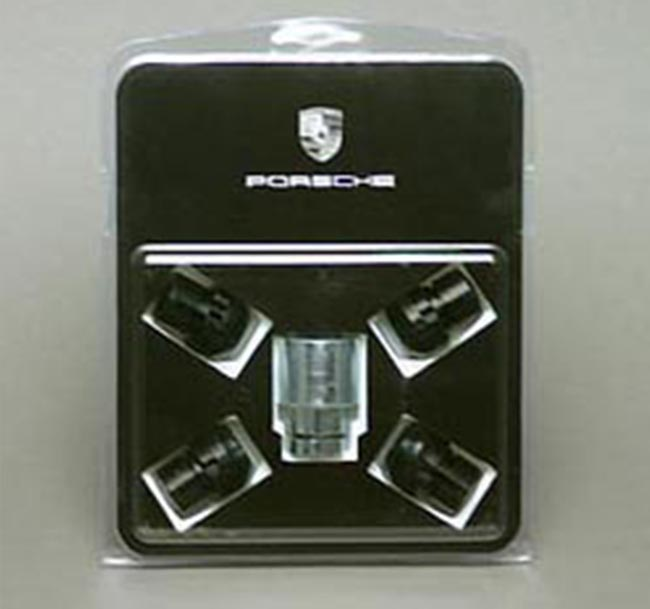 Porsche Wheel Locks, Black